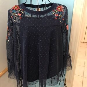 2-piece layered blouse. NWOT